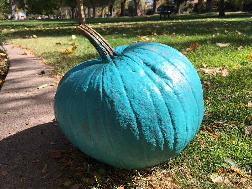 Teal Pumpkins On Halloween
