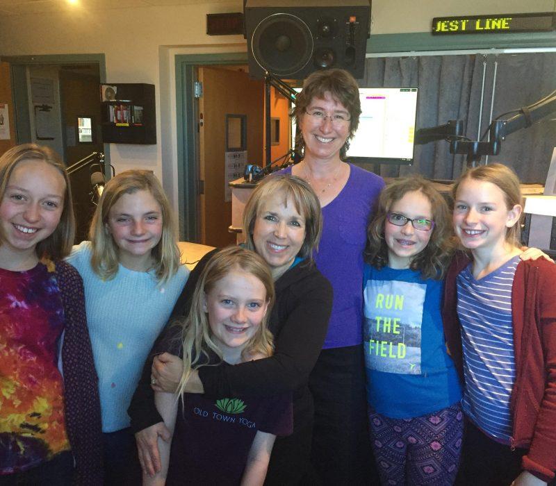Congresswoman Michelle Lujan Grisham and some of the Kid Crew