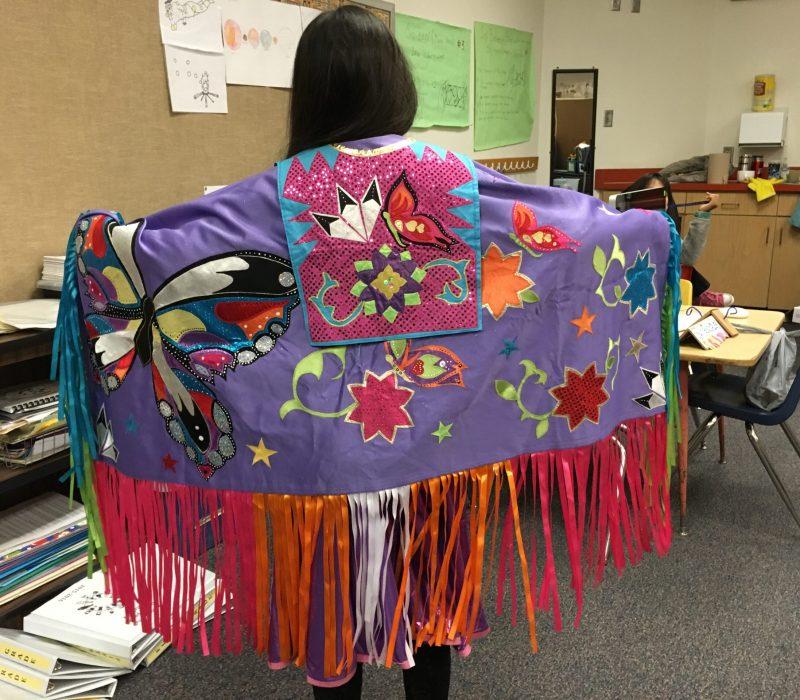 A Navajo student at La Mesa elementary school