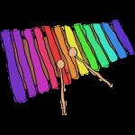 drawn-xylophone
